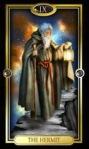 the hermit, gilded Tarot