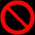 Do Not Enter Symbol