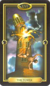 Tower Card Gilded Tarot